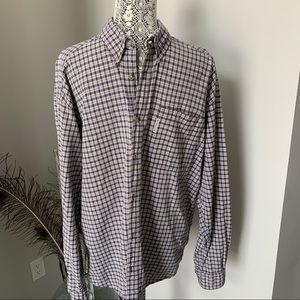 COLUMBIA Men's Button Up Long Sleeve Shirt Blue XL